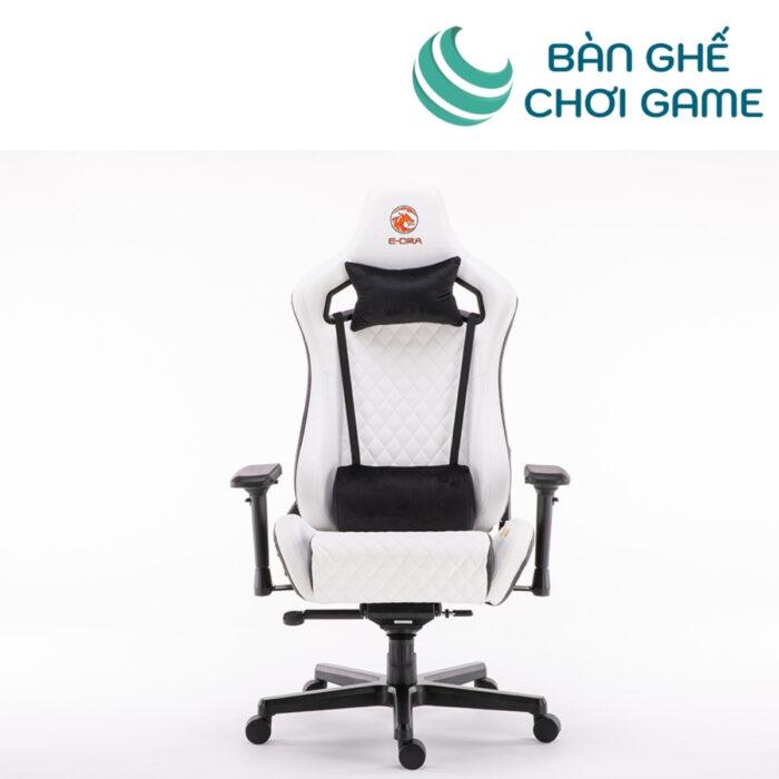 ghế chơi game e-dra ultimate egc2020 lux da thật trắng