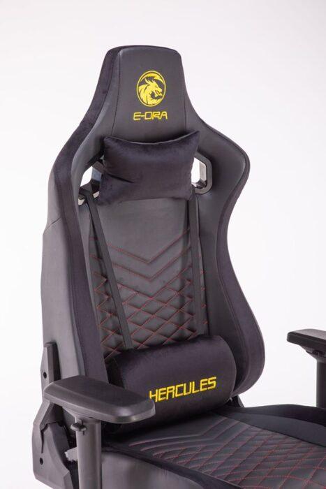 ghế game e-dra hercules egc203 pro đen - lưng ghế