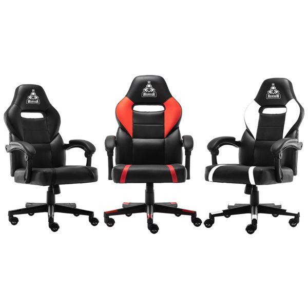 ghế chơi game warrior wgc101 đen đỏ trắng