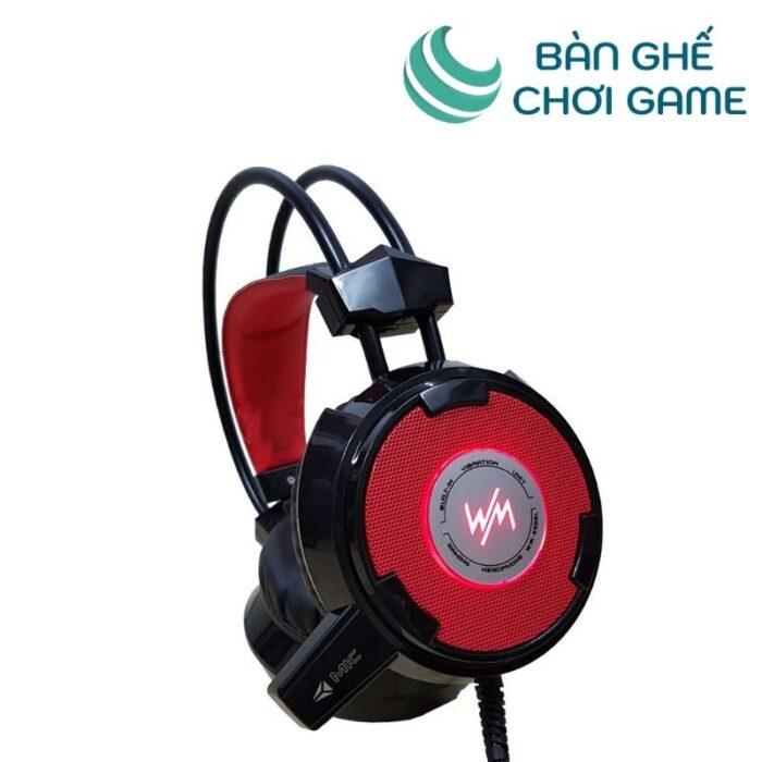 tai nghe gaming wangming wm8900 đỏ đen