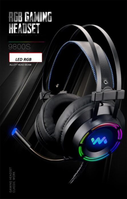 Tai nghe gaming Wangming WM9800 RGB giả lập 7.1 USB