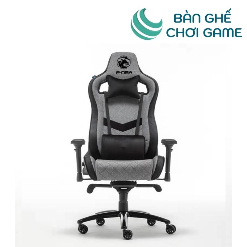 ghế chơi game e-dra iris egc228 màu xám đen