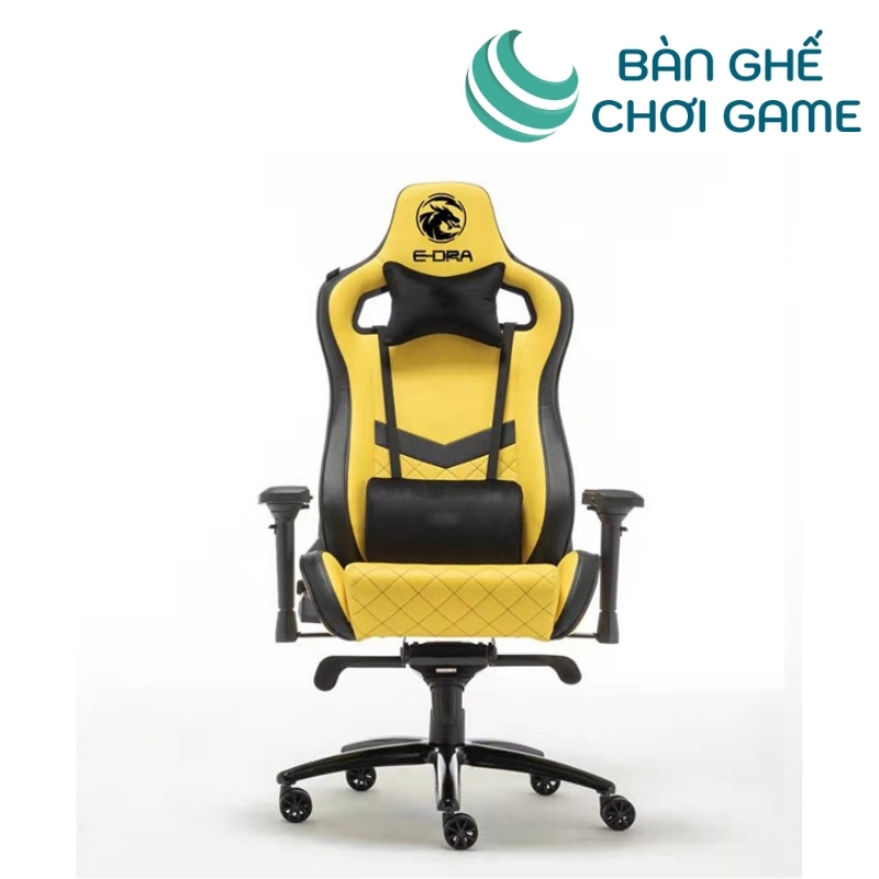 ghế chơi game e-dra iris egc228 màu vàng