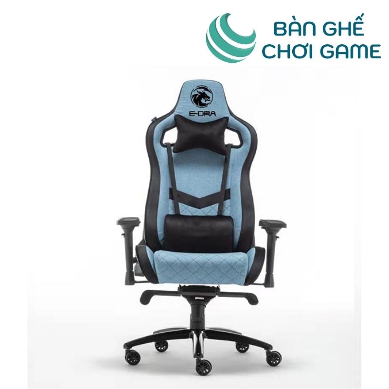 ghế chơi game e-dra iris egc228 màu xanh biển