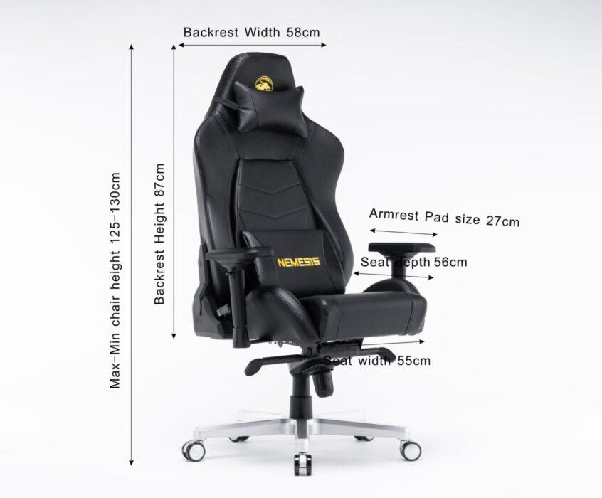 ghế chơi game e-dra nemesis egc221 kích thước