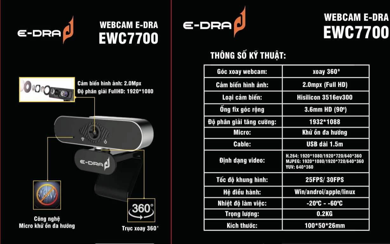 webcam e-dra ewc7700
